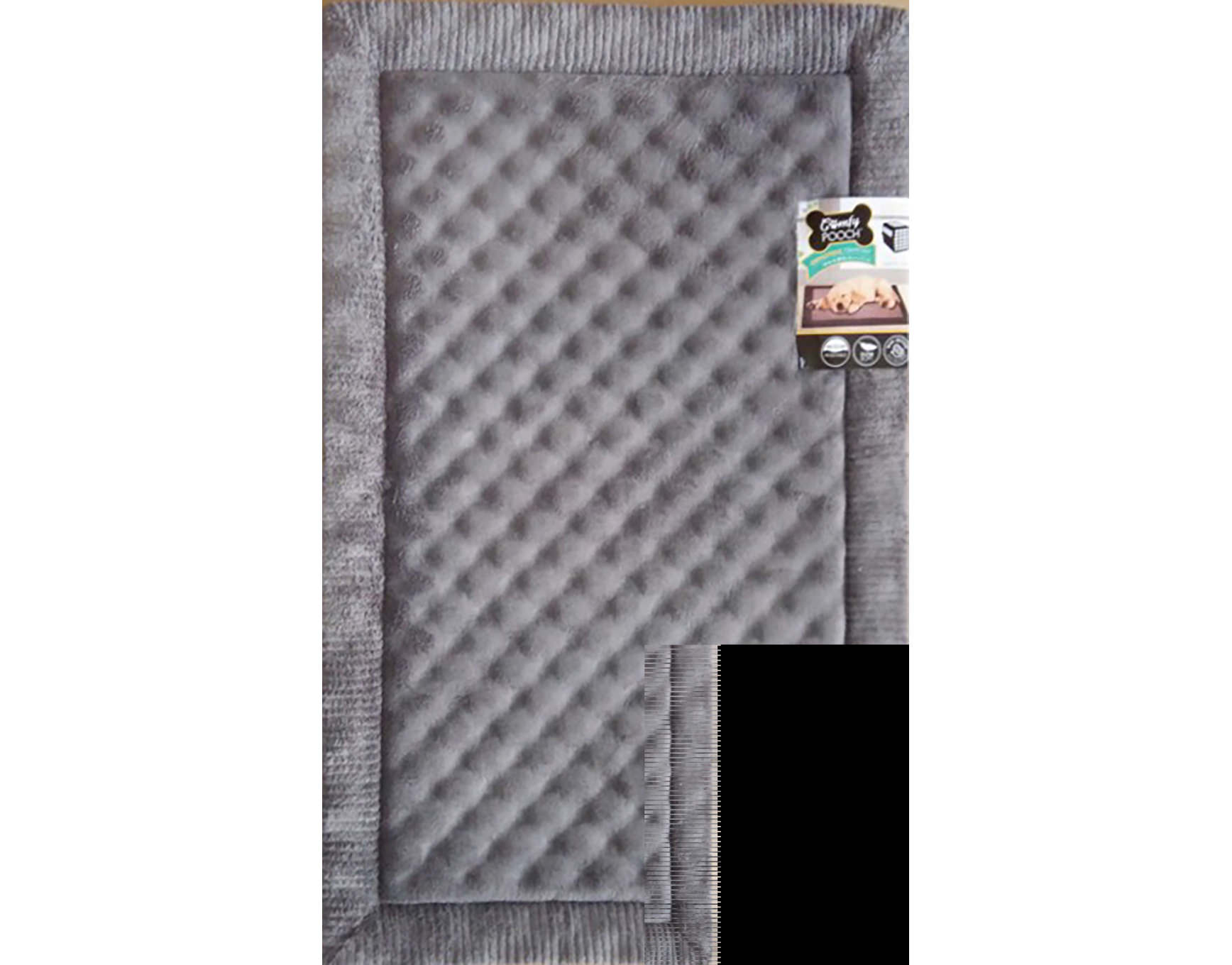 itm pets faux mats puppy bedding amp fur crate gor nordic cage carrier dog mattress kennel mat cosy suede brown