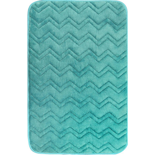 INDULGENCE-CHEVRON_341 Aqua Blue